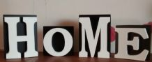 HOME FREE STANDING WOODEN PLAQUE